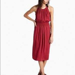 NWT Lucky Brand Maroon Carmen Dress
